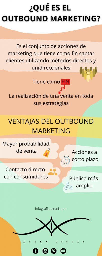 infografia outbound marketing por adara visual